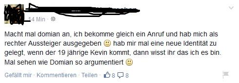 "So, is nich, ""Kevin"". Voll verkackt. #Domian http://t.co/Toavd7FHlU"