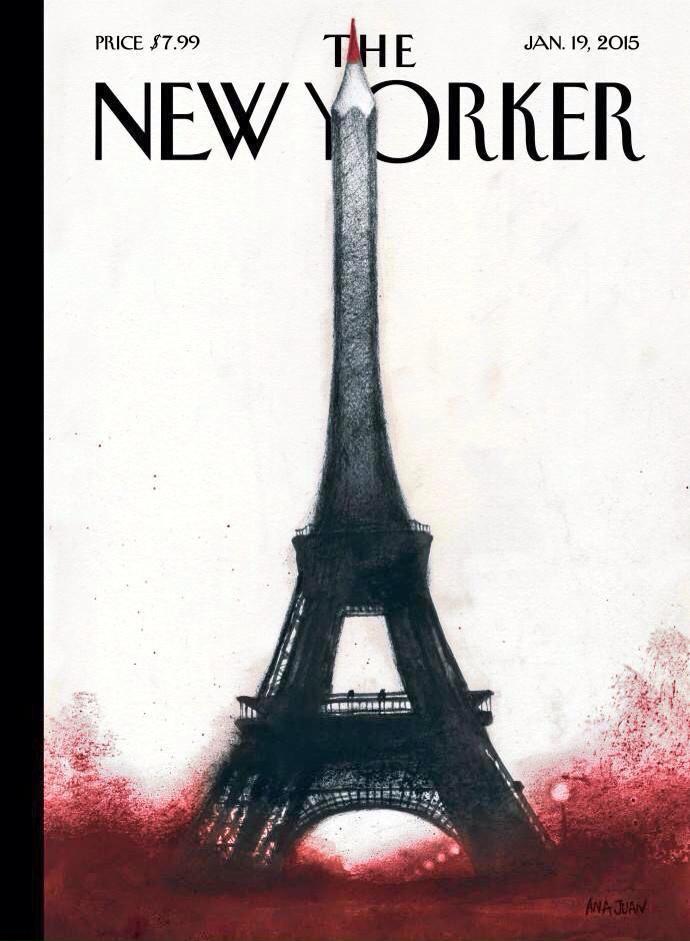 Aplaudamos fuerte la próxima portada de The New Yorker. Obra de la española Ana Juan. http://t.co/27tGvMCzMl