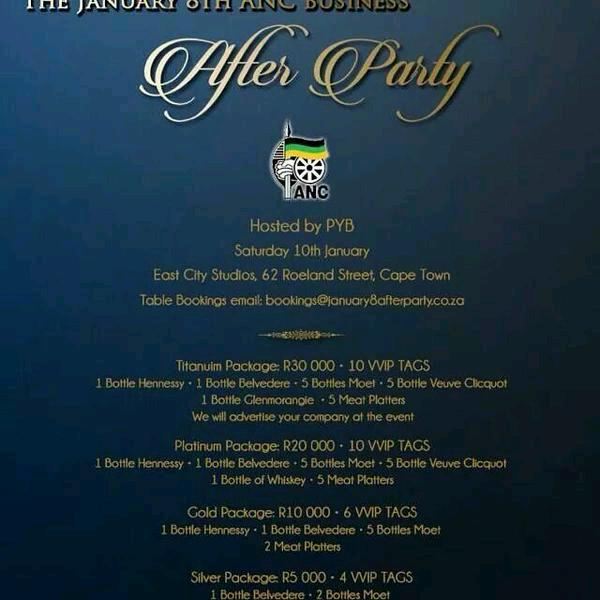 #ANC103 After Party packages. http://t.co/WKsWoHjOhb