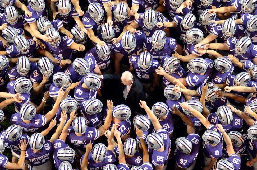 Simply, the BEST EVER.  CONGRATULATIONS to Coach Snyder, his Family, and to the K-State Family.  #OURLEGEND #CFBHOF http://t.co/BO1v3pK8VQ