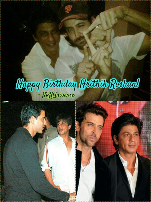 Happy Birthday Hrithik Roshan on behalf of all SRKians. Have a prosperous and happy year! -