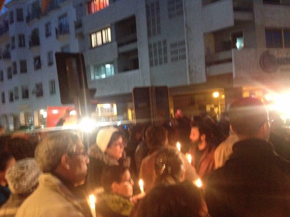 Solidarity sit-in #JeSuisCharlie Rabat, #Morocco #Maroc http://t.co/EBRBQvAsoe