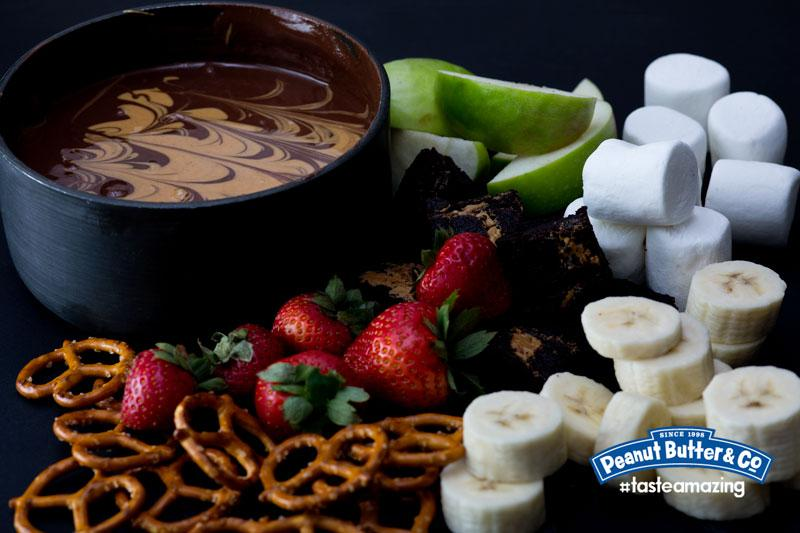 We've got an assortment of goodies to go with this chocolate PB fondue! RT for a chance to win PB! #FreeJarFridays http://t.co/kSb74i2jQr