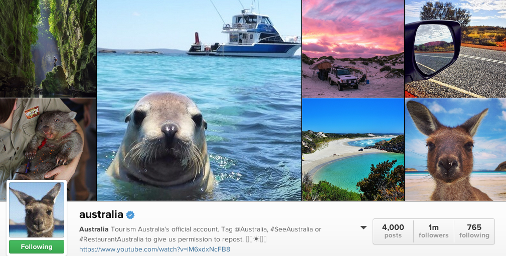 Top Instagrammers to follow - The @Australia Travel Version