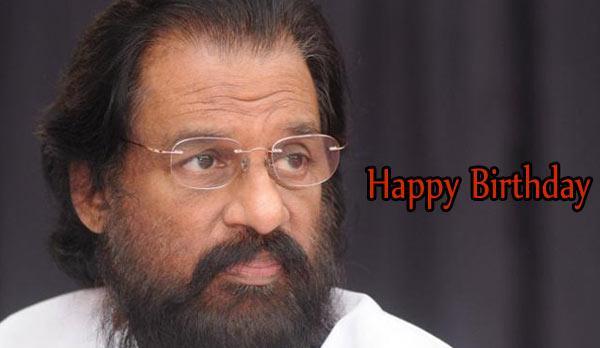 "Happy birthday \""Gana Ghandharvan\"" K.J Yesudas, who turns 75 today."