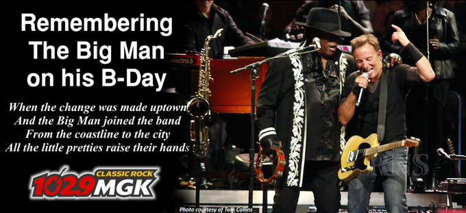 Remembering The Big Man on his B-day.  Happy Birthday to Clarence Clemons, we miss you.