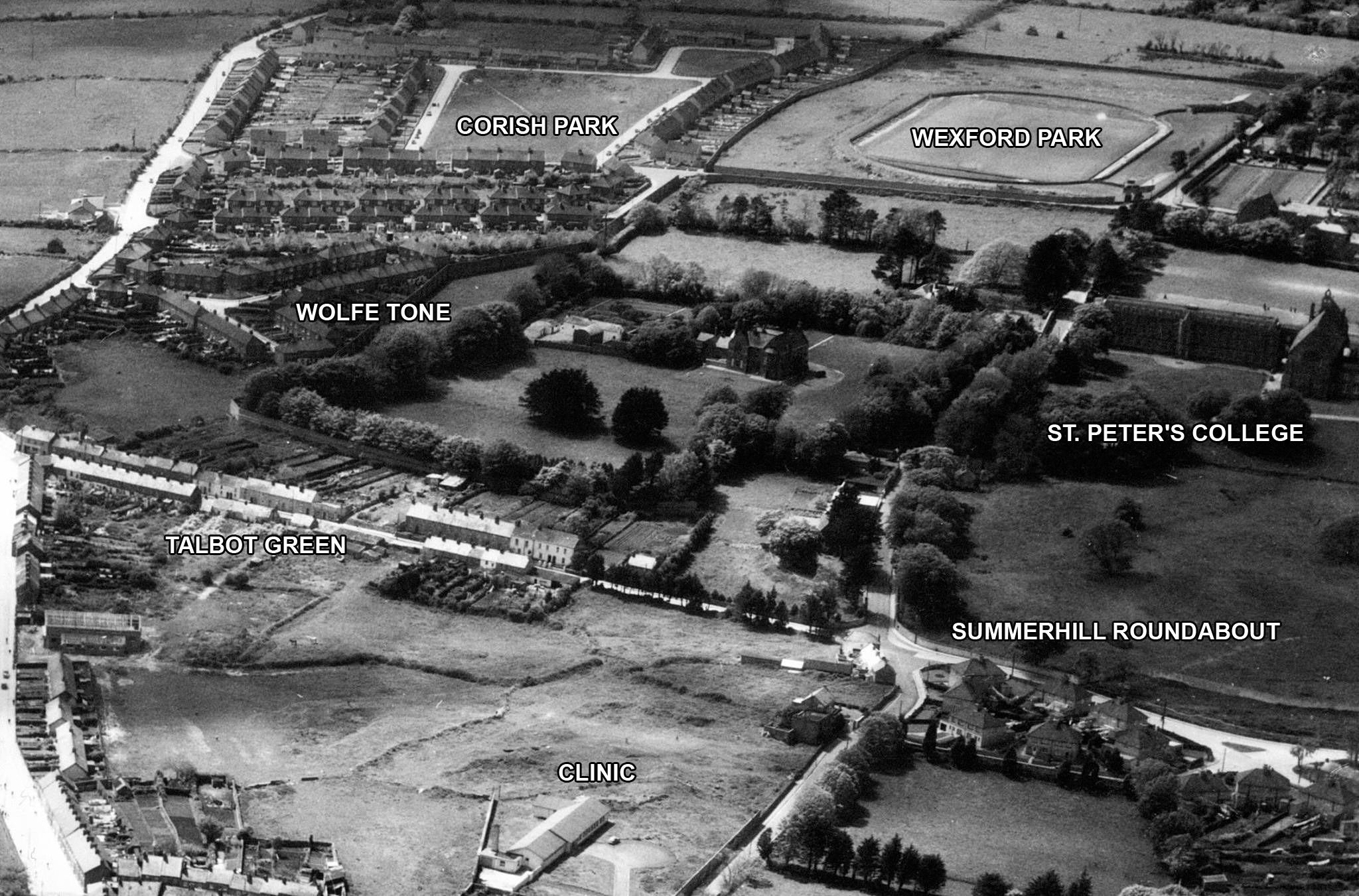 An old picture of Wexford Town from above. http://t.co/q1uEJCTO6Q