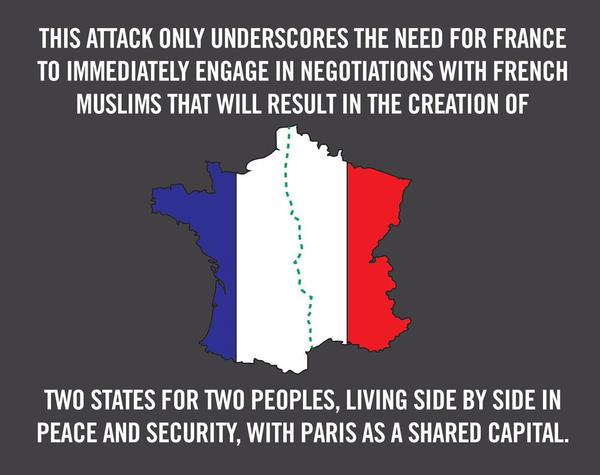 If #France were #Israel … drawing the same political conclusions in favor of appeasement from acts of terrorism. http://t.co/kRKm6LNjsI