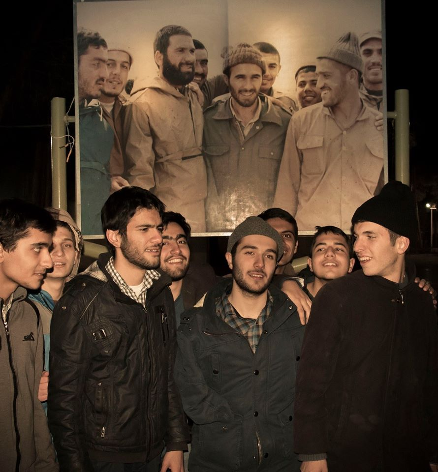 Sons of soldiers who died for Iran during the Iran-Iraq war recreate picture of their fathers together. http://t.co/UfxkVvm1Ky