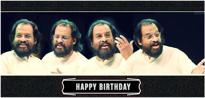 Join us in wishing the man with the Golden voice K.J.Yesudas, a very Happy birthday today!