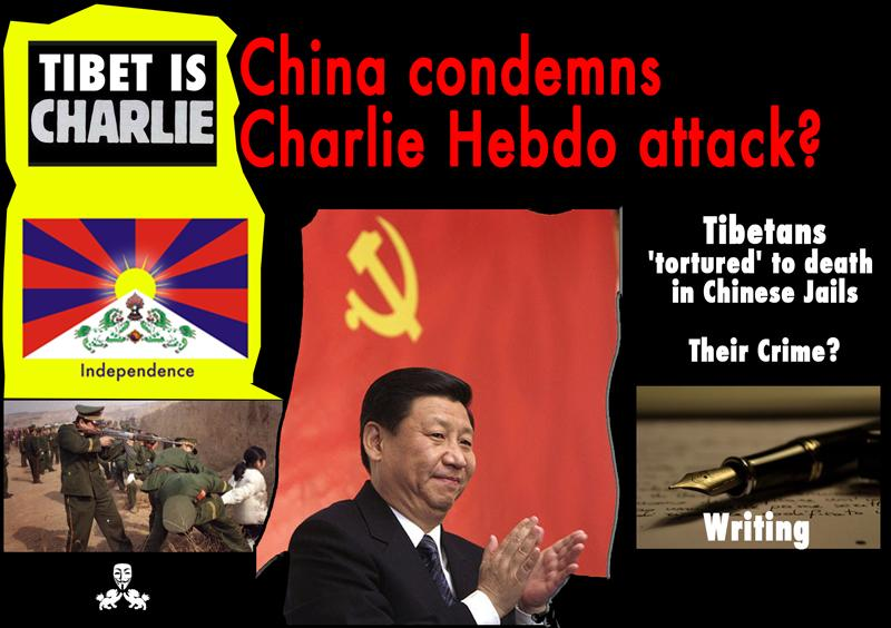How Can China Condemns Charlie Hebdo Attack While they're Killing Tibetans Activists, Bloggers, Writers? #Tibet http://t.co/76P1Nl1ykF