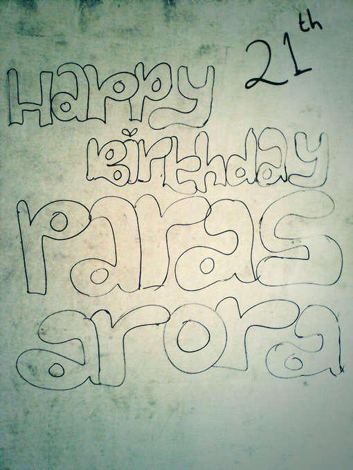 "Terimakasih ;;)\"" Nice\""  happy birthday paras arora 21th i write in my"