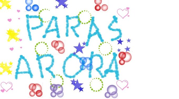 Happy Birthday Paras Arora Wish you all the best,,, May God bless you I\m sorry if you not like