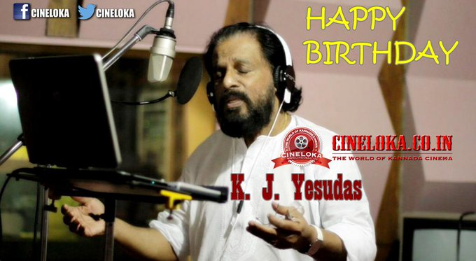 Happy Birthday Wishes to one of the Legendary Indian Singers of All-Time, K. J.Yesudas Sir <3