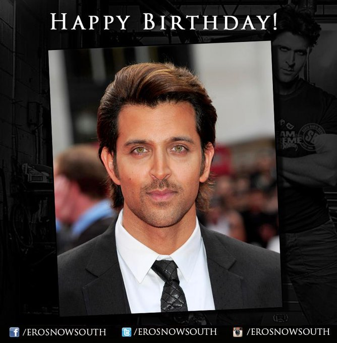 Join with us in wishing Actor Hrithik Roshan a very happy birthday.. Rt and share your wishes too :)