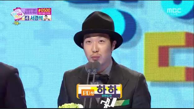 HaHa Oppa has won the PD Award!^^ Congrats!!!♡ #MBC연예대상 #2014MBCEntertainmentAwards @Quanninomarley http://t.co/6uv2NDjFxW