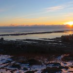Sunrise over #Duluth-Superior harbor this AM as seen from Enger Park; temperature 8 below zero http://t.co/gb7kNGKEvA