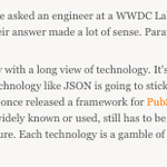 This sums up a lot of the ridiculousness of the Apple Dev culture: http://t.co/JO6HNJpsQ3