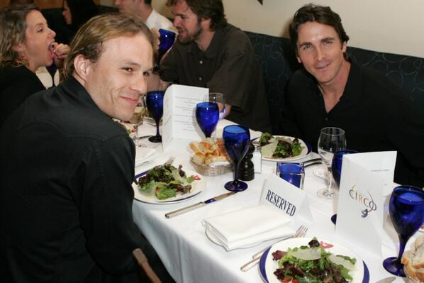 Last dinner between Christian Bale and Heath Ledger http://t.co/ryKuuL19wF