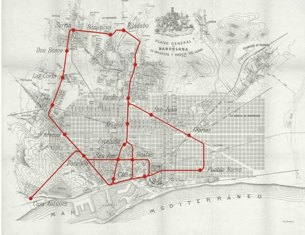 Així era la xarxa de #metrobcn90 que a començaments de segle van imaginar els enginyers Pau Müller i Octavio Zaragoza http://t.co/wB2ml0f1nv
