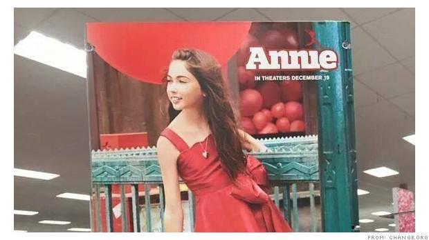 Hey, Target: Why is Annie a white girl? http://t.co/oM0w4cOaGb via @DavidGoldmanCNN http://t.co/GKucJERYN4