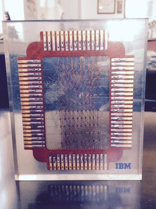 A byte of memory ca. early 60s - we've come a long way! http://t.co/0hyzNn5tbR