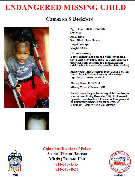PLEASE SHARE: @ColumbusPolice searching for this missing toddler, abandoned by his mother. http://t.co/RpWAr5apfN