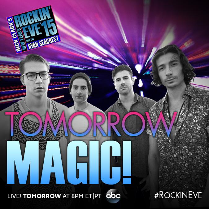 We're too excited, hope you tune in to catch our live performance, we grew up watching this show! #RockinEve http://t.co/JSqbHycdcH