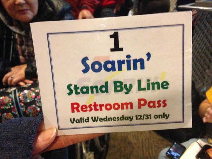 The line for Soarin' is so long that *these* are being passed out. http://t.co/MMwZaRO35t