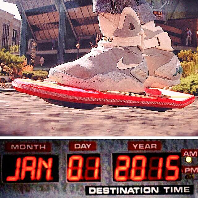Great Scott! It's 2015... Bring on the power-lacing kicks and hover board! http://t.co/Z4PJX0kzCs