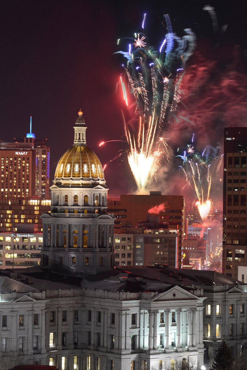 Happy New Year, Downtown Denver! (Photo Credit: Larry Laszlo, CoMedia) http://t.co/N6NcUzQLVs