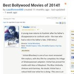 RT @PerfectlyAdnan: And Look Guys!!! Haider is STAMPED as the #BestBollywoodMovie2014 by IMDb I Love you @shahidkapoor #Haider