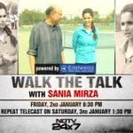 RT @ShekharGupta: Welcome 2015 on #WTT with @MirzaSania at her brilliant tennis academy near Hyderabad, @ndtv 830 PM Friday, 130 PM Sat htt…