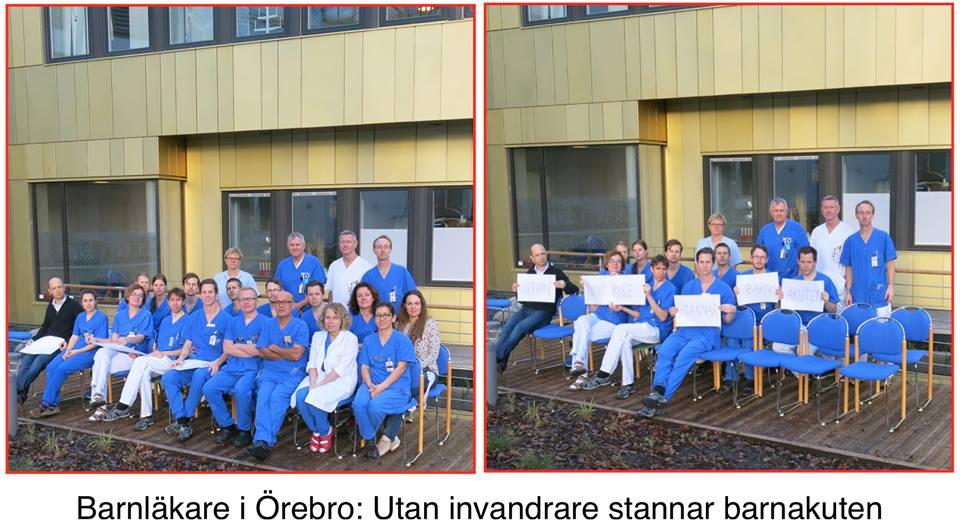 Barnläkare i Örebro slänger in sina 2 cents i kampen mot rasismen: Är rasisten villig att kompromissa med barn liv? http://t.co/cpSJz6VcnN