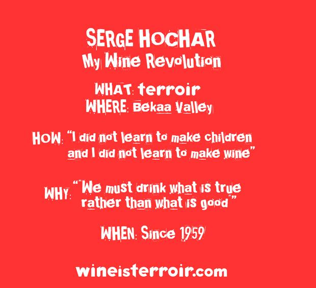 """I did not learn to make children and I did not learn to make wine"" SERGE HOCHAR http://t.co/px3AVSumFm"