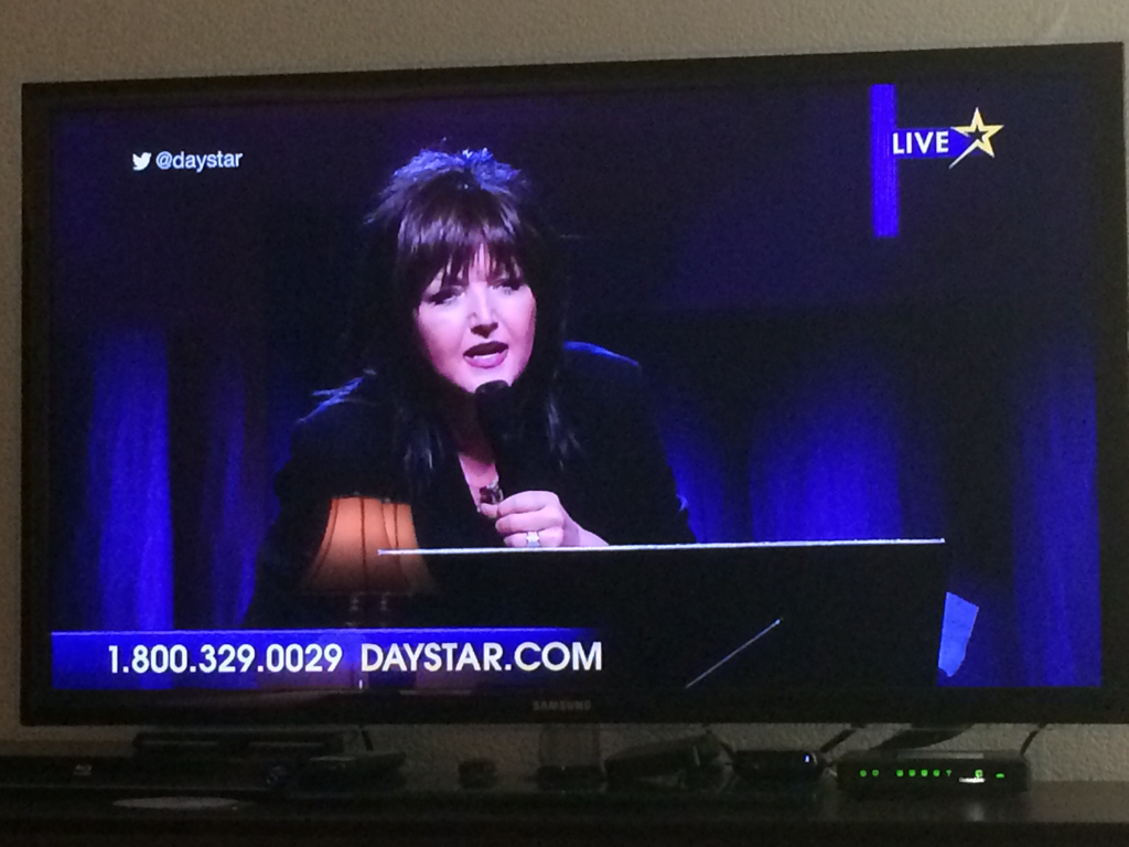 Watching Miss @KarenAnnWheaton bring the Word on @daystar right now! #winterramp .@theramp http://t.co/I6PzP304rS