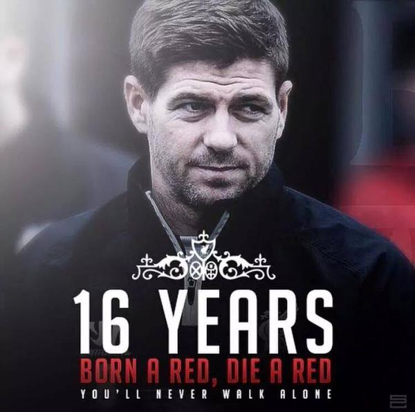 Absolutely honored to have had Gerrard as my childhood hero. You're the epitome of loyalty , passion and class #YNWA http://t.co/XmXsIgckYT