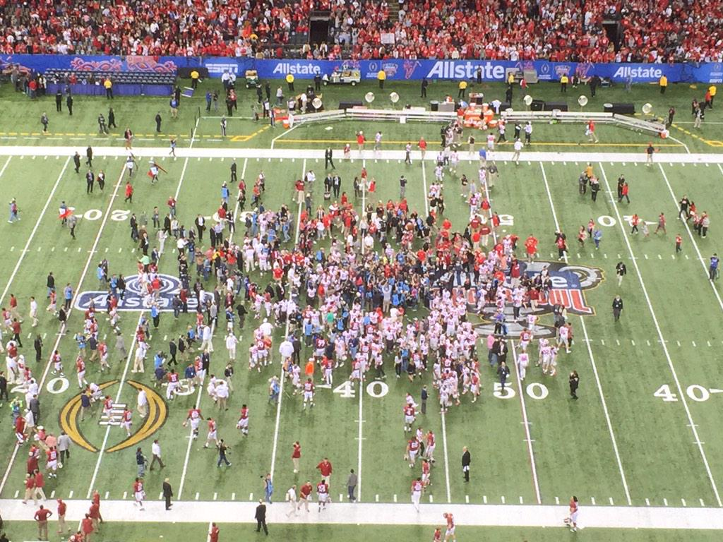 We're going to the 'ship! #GoBucks @CFBPlayoff @SugarBowlNola Champs! http://t.co/xOKlzmF50V