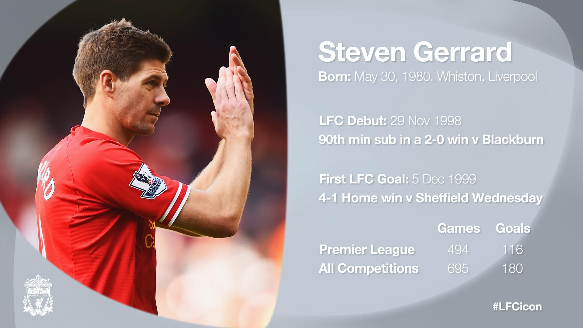 Steven Gerrard in facts, stats and honours... #LFCicon http://t.co/qYfsCaAa3l