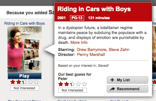 Netflix watched a very different Riding in Cars With Boys than the rest of us http://t.co/pgdLSw7AV1