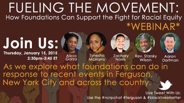 Join NCRP + @aliciagarza @tymcharris @ZachWNorris @ReverendStarsky to discuss How #FDNS can support Racial Equity http://t.co/Qmu01ciGRp