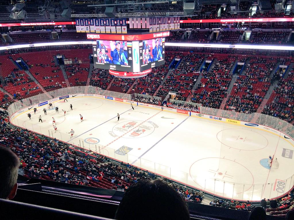 Montreal a real hockey city... RT @EmptySeatsPics: USA-Russia game in Montreal. #WJC2015 (ht @kvahey) http://t.co/tIZe9nLIBw