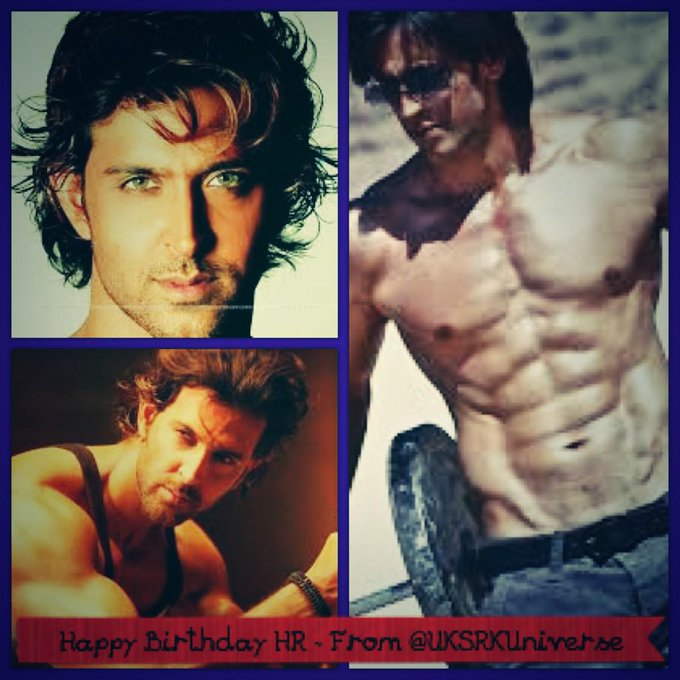 Here\s wishing Hrithik Roshan a very happy birthday! Lots of love and best wishes from the Universe of UK SRKians.