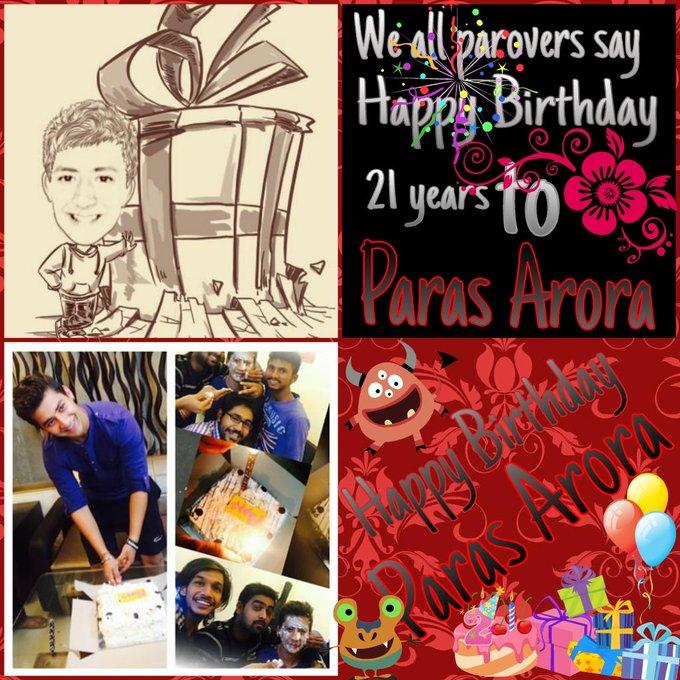 Happy birthday paras arora  Hopefully God Bless you in  Every time especially at birth