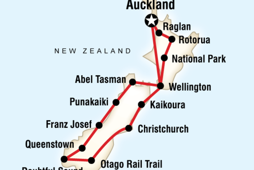 Experience the highlights of New Zealand on this 21 day tour