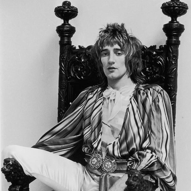 Happy birthday to  Rod Stewart himself is a dynamic performer. He never stands still, moving about w...