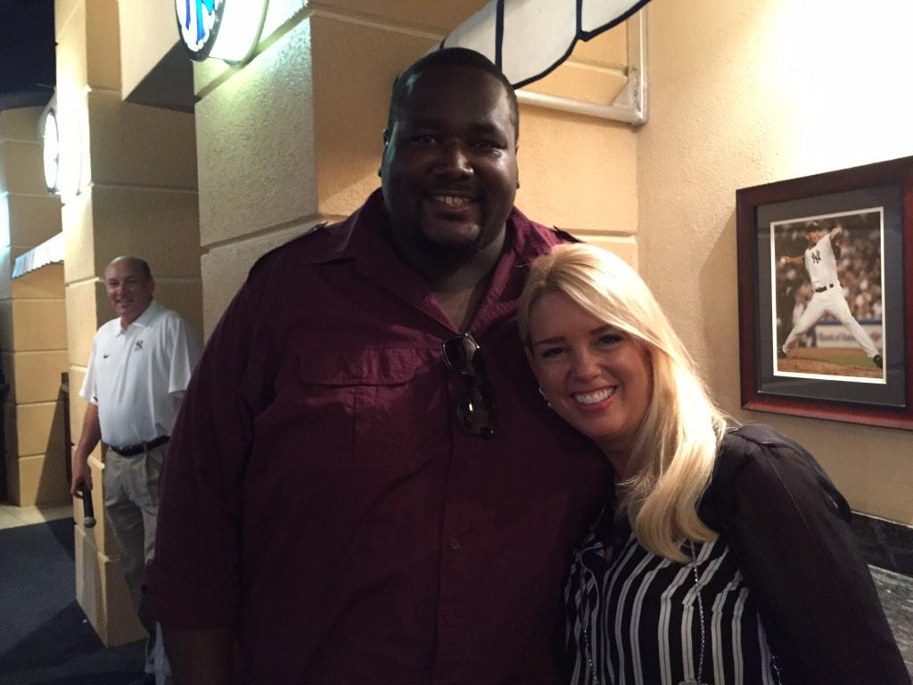 Great to be at Steinbrenner Field w/@QuintonAaron, who is here to talk about his foundation and anti-bullying http://t.co/IOXt0sLD8I