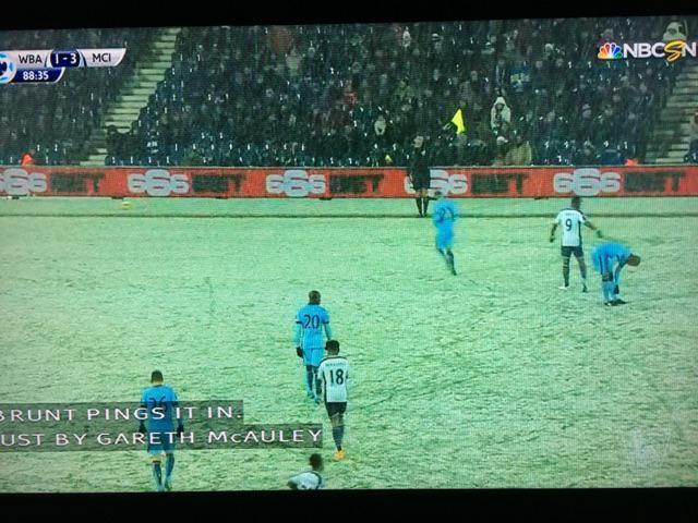 I've enjoyed watching the snowy ManCity-WestBrom game so damn much. More snowy soccer please! http://t.co/wX5HbbqCnY