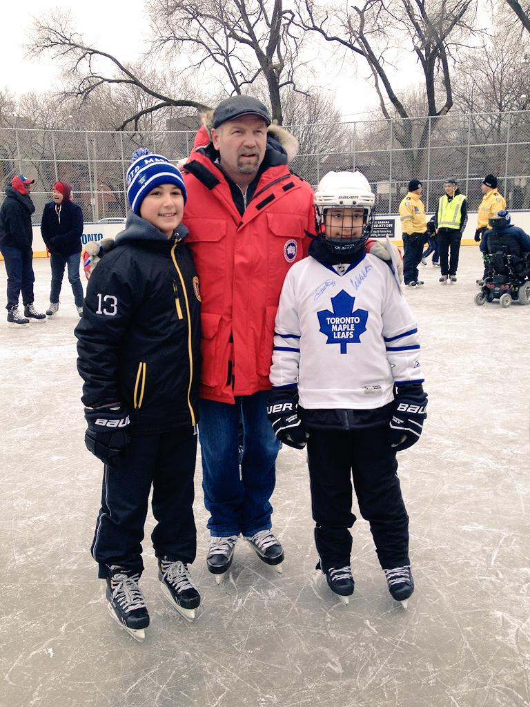 .@MapleLeafs alumni Wendel Clark is here at the #RegentPark rink opening for a community skate! http://t.co/vwPJc9oHUo