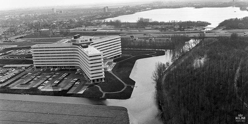 A new head office for KLM in 1971.
